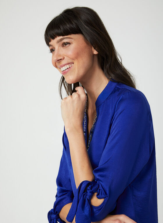 ¾ Sleeve Tunic Blouse, Blue