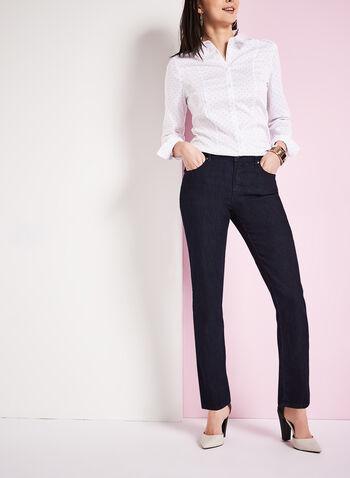 Simon Chang - Straight Leg Denim Pants, Blue, hi-res