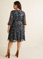 Marée pour toi - Printed Wrap Dress, Blue