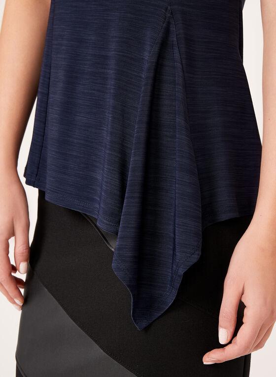 Sleeveless Asymmetric Top, Blue, hi-res
