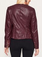 Ness - Blazer en similicuir avec zips, Rouge, hi-res