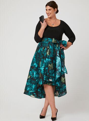 Jersey Satin Duchess Dress, Blue, hi-res