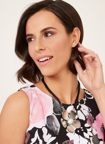 Floral Print Sheath Dress, Pink, hi-res