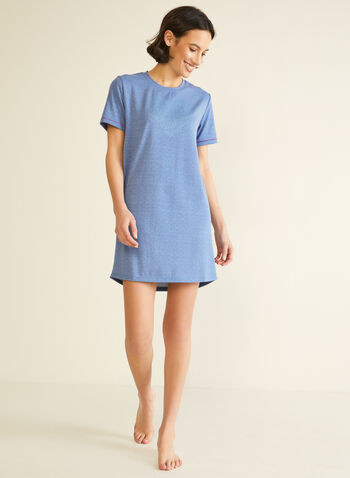 Printed Nightshirt, Blue,  fall winter 2020, nightshirt, pyjama