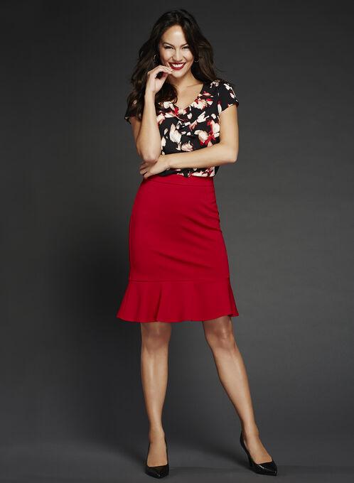 Short Trumpet Skirt, Red, hi-res
