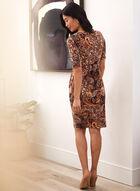 Paisley Print Twist Detail Dress, Brown
