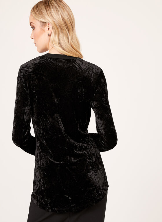Crush Velvet Tunic, Black, hi-res