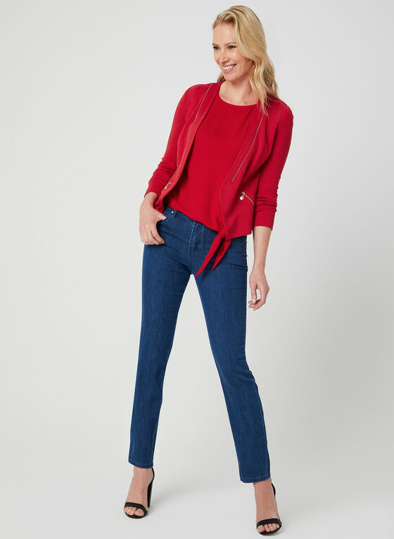 Simon Chang - Signature Fit Straight Leg Jeans, Blue