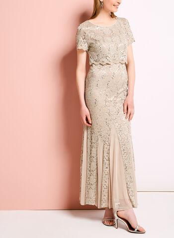 Sequin Lace Popover Mermaid Dress, , hi-res