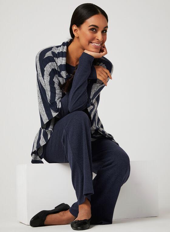 ¾ Sleeve Knit Top, Blue, hi-res