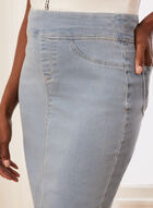 Pull-On Denim Skirt, Blue