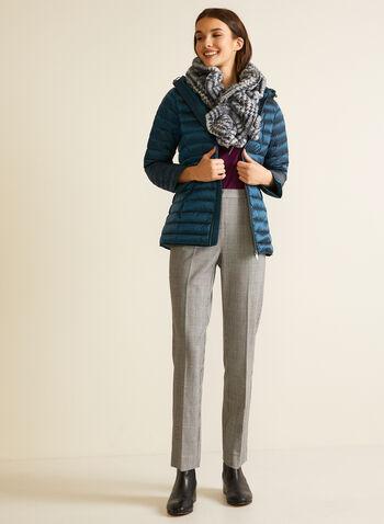 Manteau compressible en duvet, Bleu,  automne hiver 2020, manteau, capuchon, matelassé, compressible