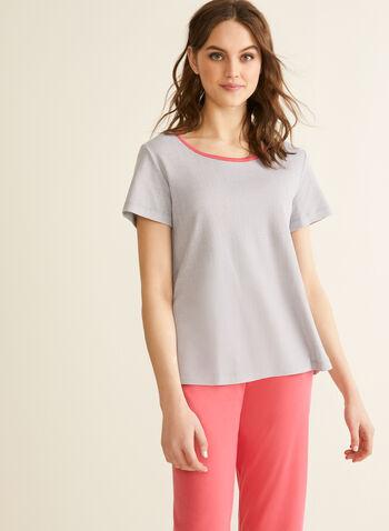 Claudel Lingerie - Printed Pyjama Set, Grey,  spring summer 2020, pyjama, set, capris, comfortable fabric