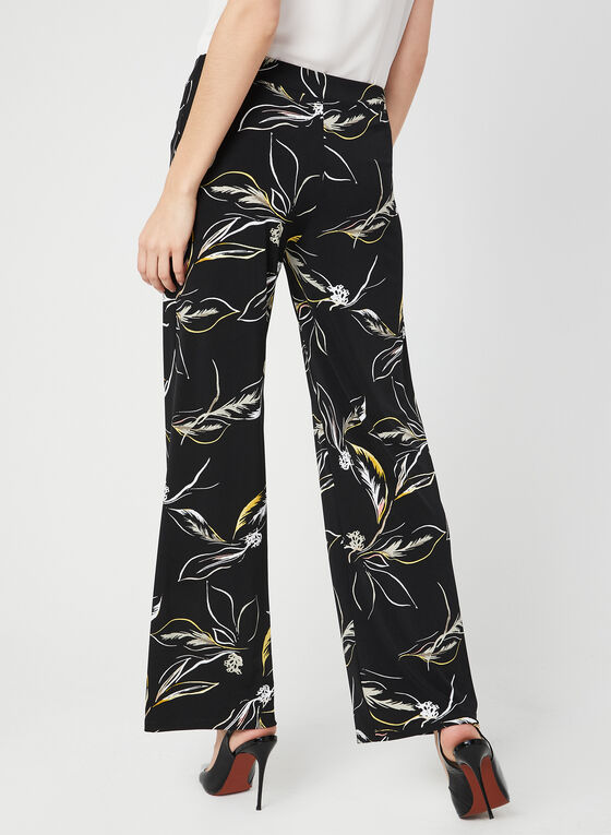 Modern Fit Wide Leg Pants, Black, hi-res