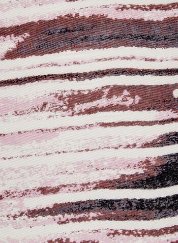 Foulard motif abstrait et ombré, Rose, hi-res