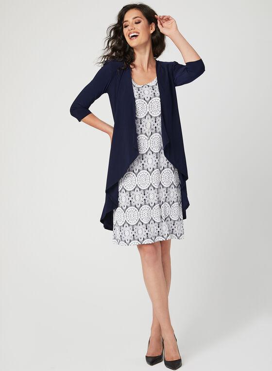 Puff Print Dress & Duster Set, Blue, hi-res