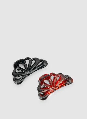 Shell Shape Hair Clips, Black, hi-res,  hair clip, hair accessory, fall 2019, winter 2019