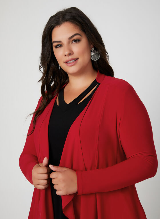 Joseph Ribkoff - Open Front Jersey Top, Red