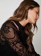 Nina Leonard - Embroidered Net Bolero, Black