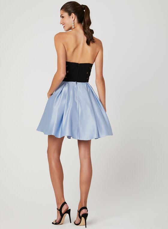 Strapless Fit & Flare Dress, Black, hi-res