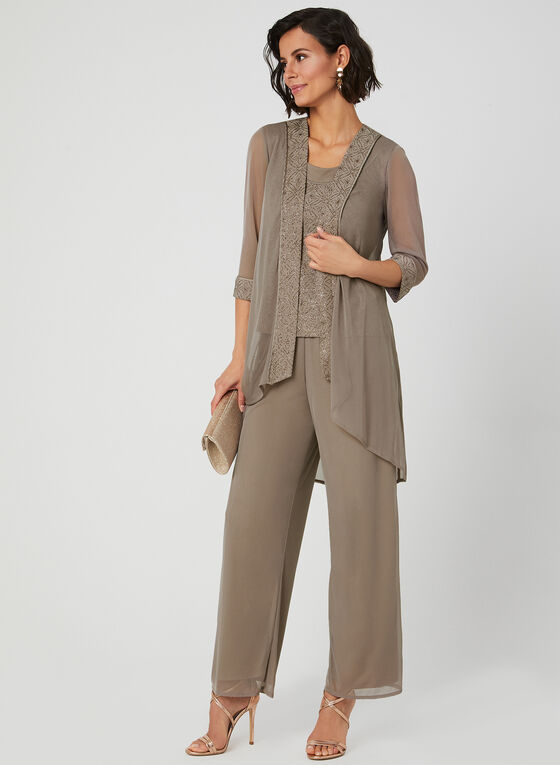 3-Piece Pantsuit, Off White, hi-res