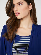 Stripe Print Dress & Jacket, Blue, hi-res