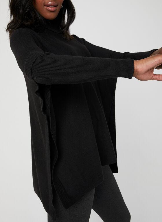 Charlie B - Knit Poncho Sweater, Black, hi-res