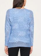 Pull tricoté en lurex à manches dolman, Bleu, hi-res