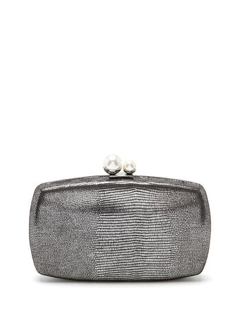 Metallic Box Clutch, , hi-res
