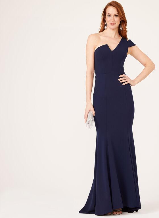 One Shoulder Mermaid Dress, Blue, hi-res
