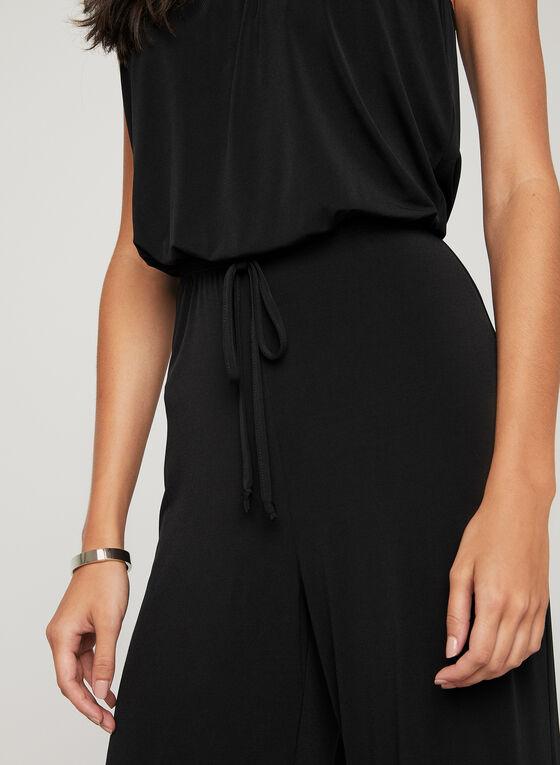 Strapless Wide Leg Jumpsuit, Black, hi-res