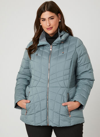 Bernardo - PrimaLoft® Packable Coat, Blue, hi-res