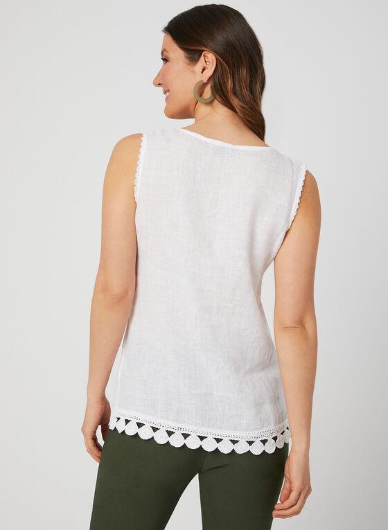 Charlie B - Sleeveless Linen Top, White, hi-res