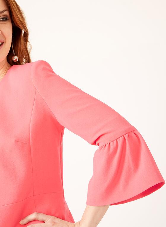 Bell Sleeve Grommet Detail Jacket, Orange
