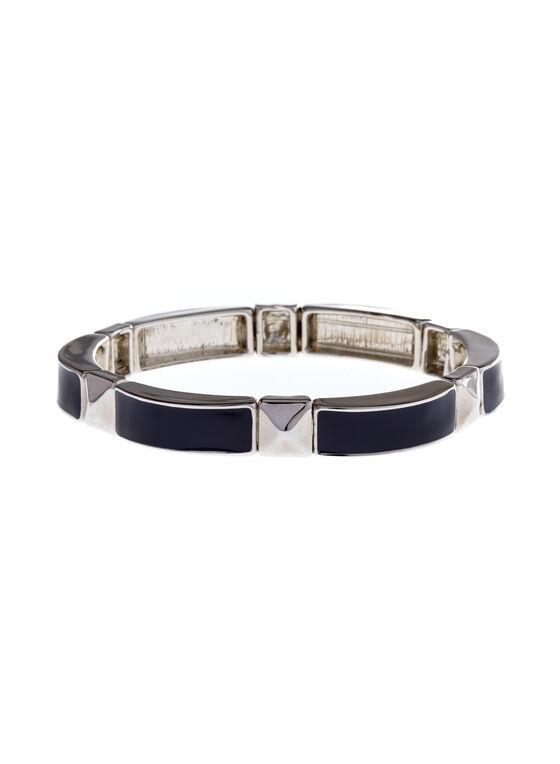 Enamel Stretch Bracelet , Blue, hi-res