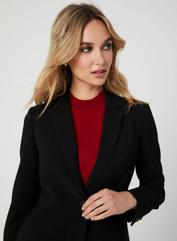 Notch Collar Blazer, Black,  blazer, long sleeves, notch collar, fall 2019