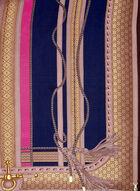 Foulard rétro à motif inspiration cavalier, Bleu, hi-res