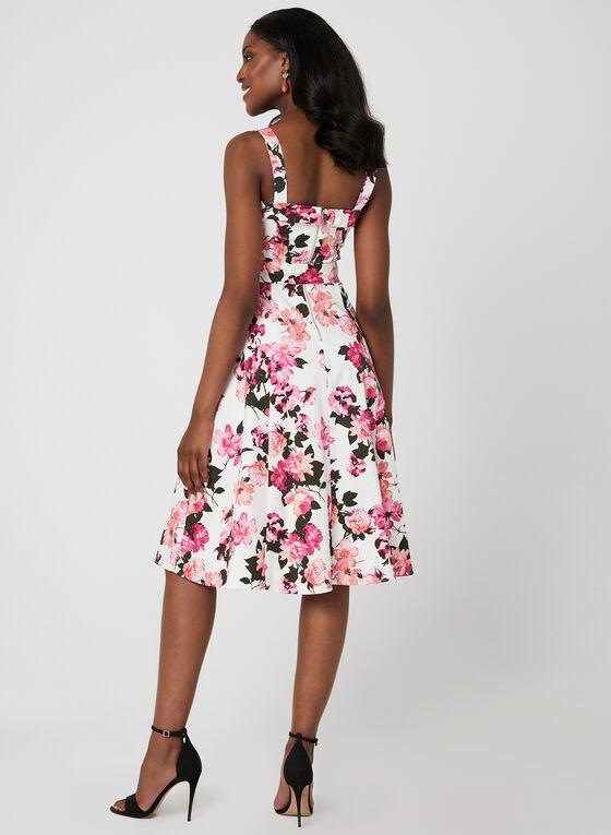Floral Print Cotton Dress, Pink, hi-res