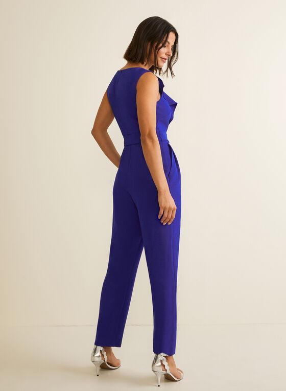 Sleeveless Slim Leg Jumpsuit, Blue