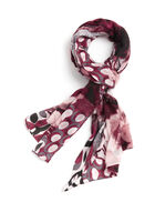 Graphic Print Oblong Scarf, Red, hi-res