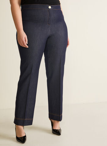 Modern Fit Straight Leg Pants, Blue,  pants, modern fit, straight leg pants, straight leg, mid-rise, zipper, shaped hips, tailored pants, spring 2020, summer 2020