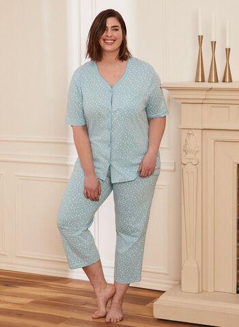 Star Print Pyjama Set, Blue,  pyjama, set, 2-piece, star print, buttons, chest pocket, pants, pull-on, spring summer 2021