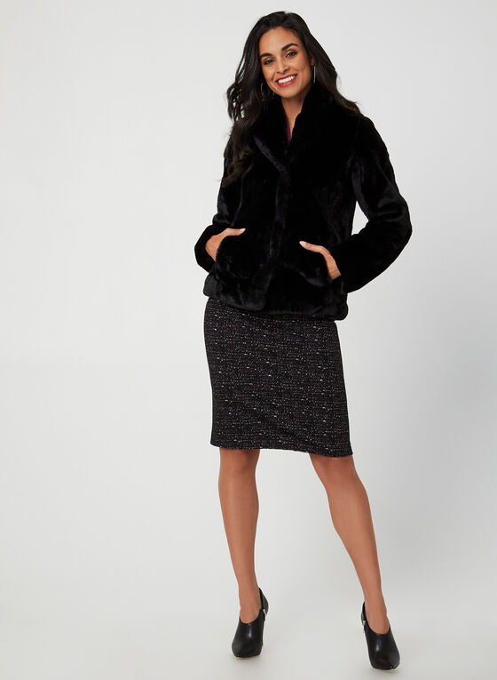 Weatherproof - Faux Fur Coat, Black