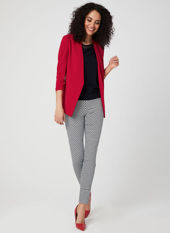 Open-Front Blazer, Red, hi-res