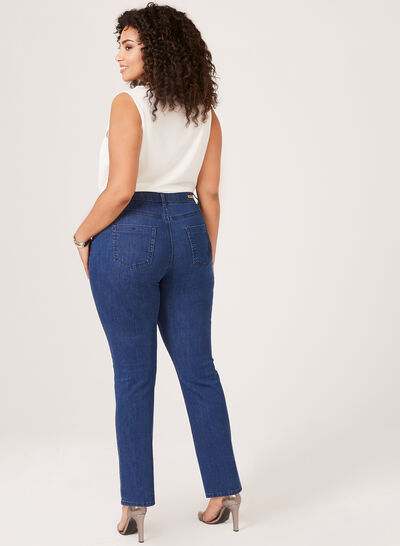 Simon Chang – Floral Embroidered Signature Fit Jeans
