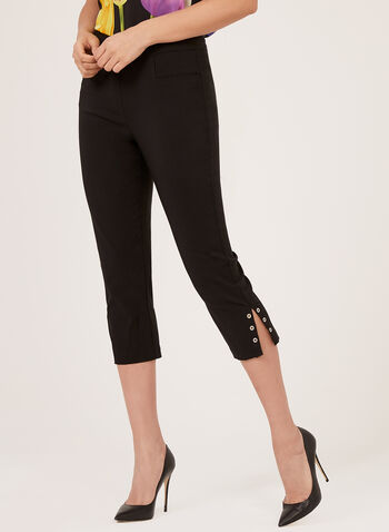 Pull-On Bengaline Capri Pants, Black, hi-res
