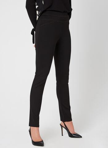 Legging en jersey et coutures contrastantes, Noir, hi-res