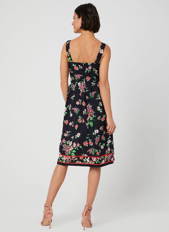Jessica Howard - Floral Print Tie Detail Dress, Blue, hi-res