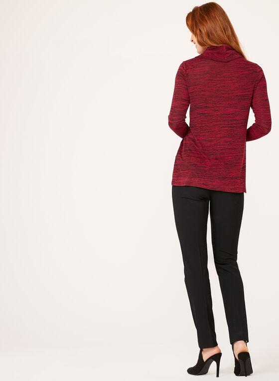 Heather Print Cowl Nec Tunic, Red, hi-res