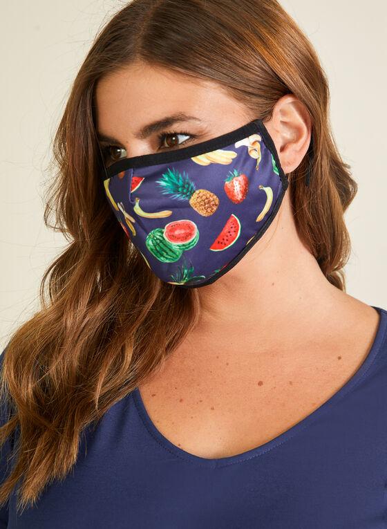 Bright Safe Care - Masque en tissu motif fruité, Noir